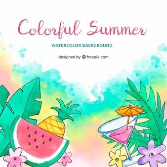 Fundo de verão com muitas cores