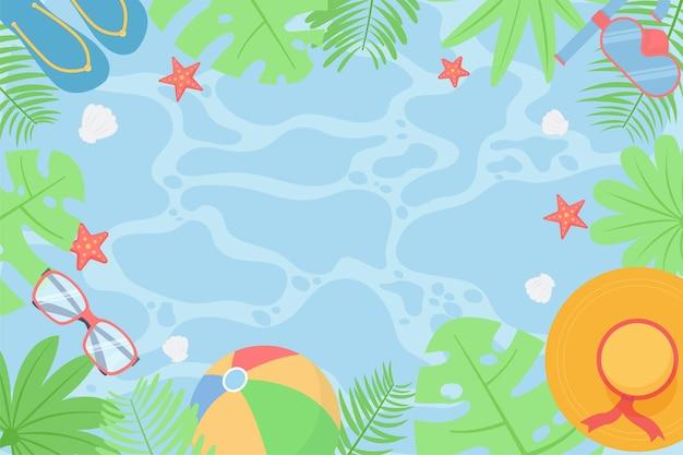 Fundo de verão com vista panorâmica da praia