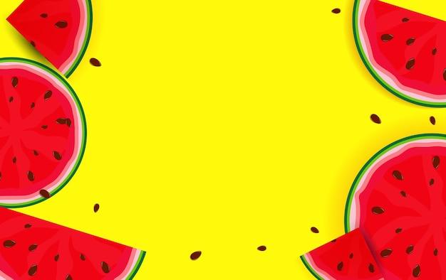 Fundo de verão da melancia