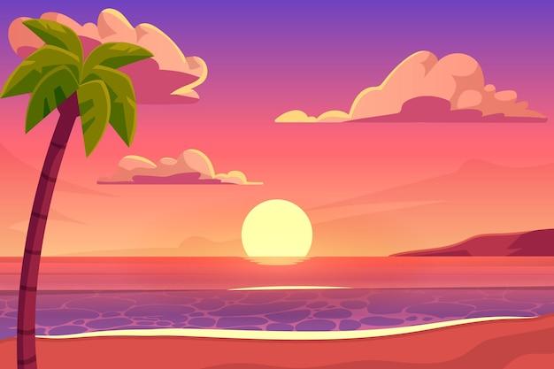 Fundo de verão design plano