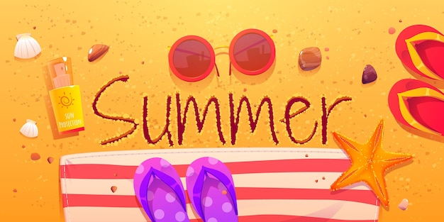 Fundo de verão dos desenhos animados