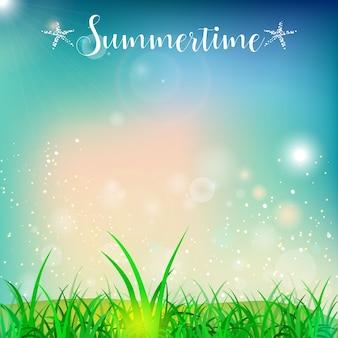 Fundo de verão feliz