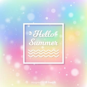 Fundo de verão olá colorido turva