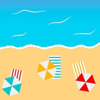 Fundo de verão praia