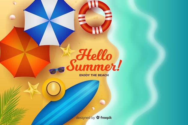 Fundo de verão realista
