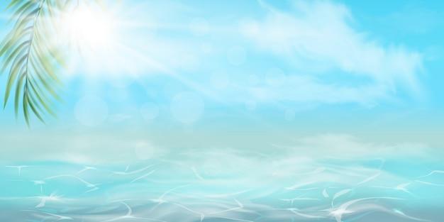 Fundo de verão. textura da superfície da água. visão aérea. ilustração. olá verão