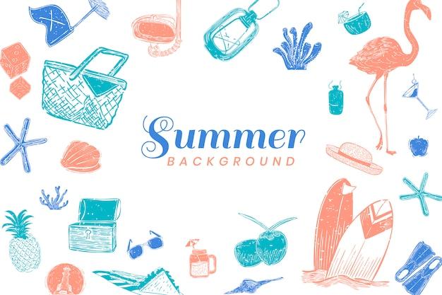 Fundo de verão tropical