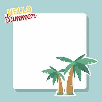 Fundo de verão. vetor de cartão de verão com copyspace