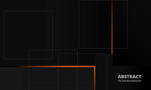 Fundo de vetor abstrato corporativo de elegância cinza escuro com linhas laranja e cinza