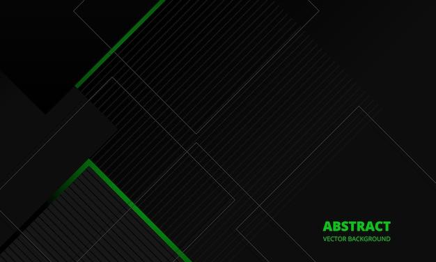Fundo de vetor abstrato corporativo de elegância cinza escuro com linhas verdes e cinza