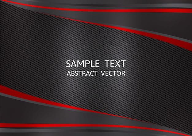 Fundo de vetor abstrato de cor preta e vermelha