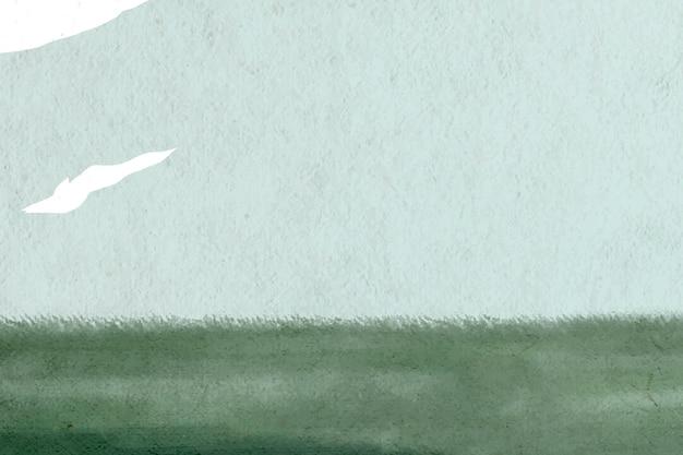 Fundo de vetor de campo de grama verde sereno desenhado à mão