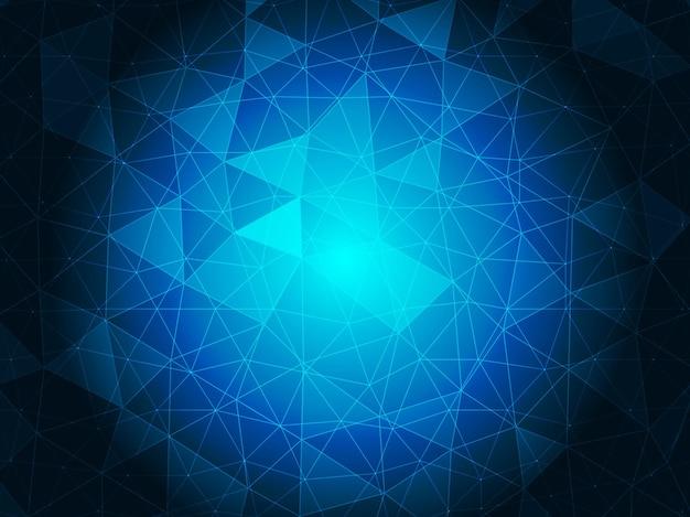 Fundo de vetor de cristal azul abstrato