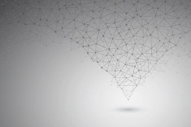 Fundo de vetor de estrutura de conexão de tecnologia