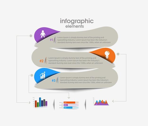 Fundo de vetor de infográfico de negócios.