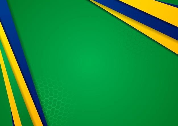 Fundo de vetor de jogos de esporte em cores brasileiras