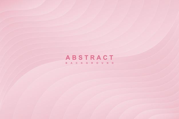 Fundo de vetor de onda gradiente rosa abstrato