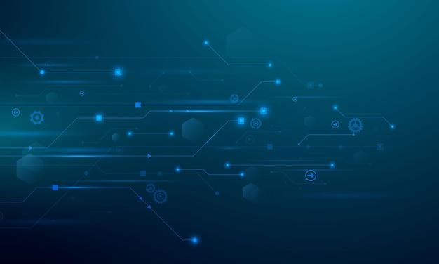Fundo de vetor de tecnologia e negócios de tecnologia