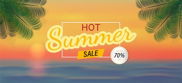 Fundo de vetor e venda de verão para banner.