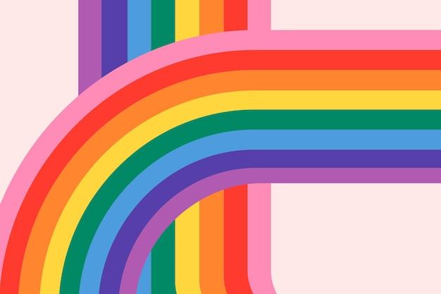 Fundo de vetor lgbtq orgulho arco-íris