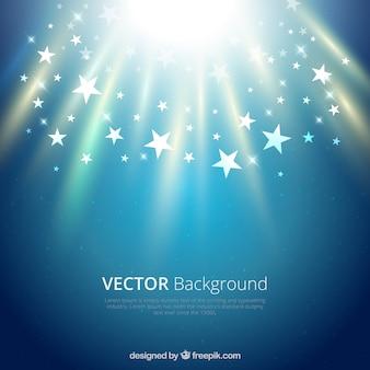 Fundo de vetores com estrelas brilhantes
