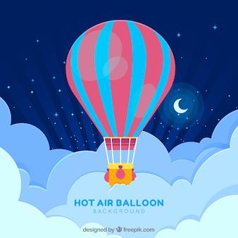 Fundo de viagens de balão de ar quente