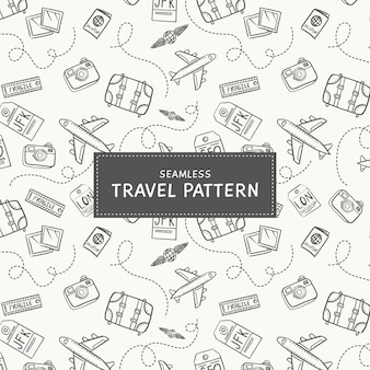 Fundo de viagens doodle