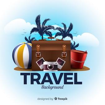 Fundo de viagens realistas