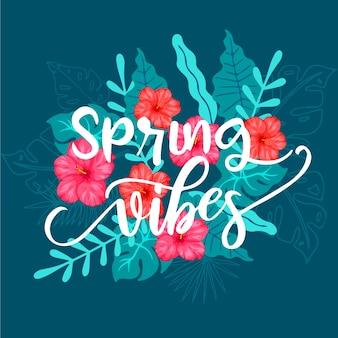 Fundo de vibrações da primavera floral
