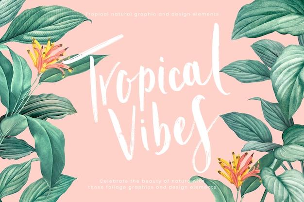 Fundo de vibrações tropicais