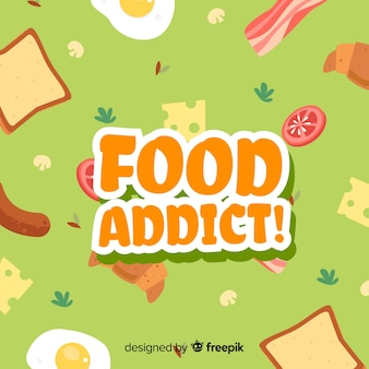 Fundo de viciado em comida