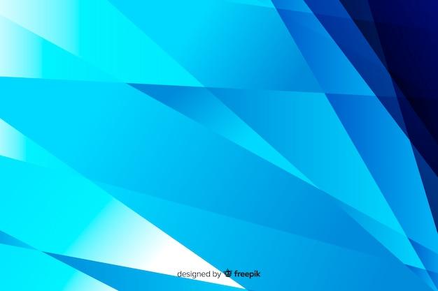 Fundo de vidro azul quebrado abstrato