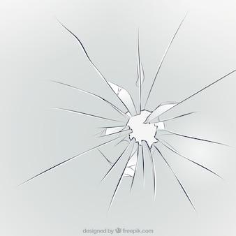 Fundo de vidro quebrado em estilo realista