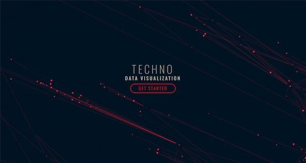 Fundo de visualização de grande volume de dados digital abstrata