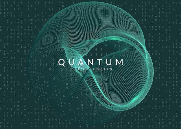 Fundo de visualização. tecnologia para big data, inteligência artificial, aprendizado profundo e computação quântica. modelo de design para o conceito de computação. cenário de visualização de vetor.