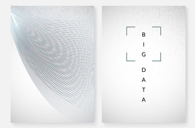 Fundo de visualização. tecnologia para big data, inteligência artificial, aprendizado profundo e computação quântica. modelo de design para o conceito de interface. pano de fundo de visualização moderna.