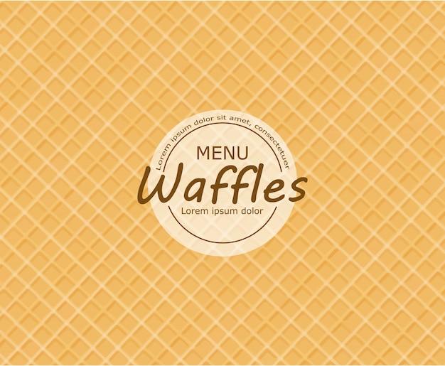 Fundo de waffle