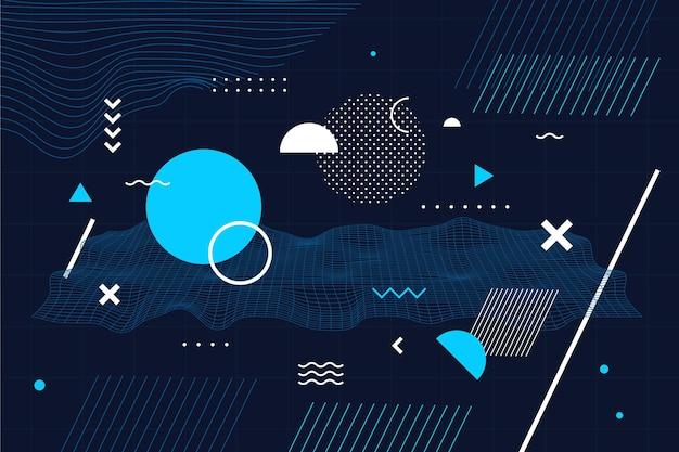 Fundo de wireframe de design plano