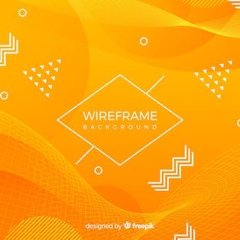 Fundo de wireframe