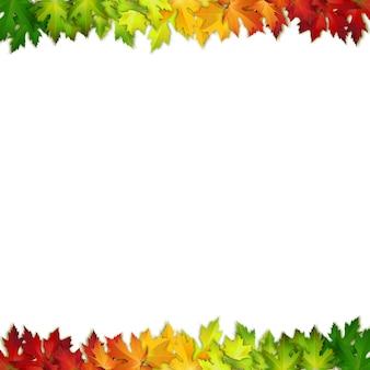 Fundo decorado com folhas de outono coloridas