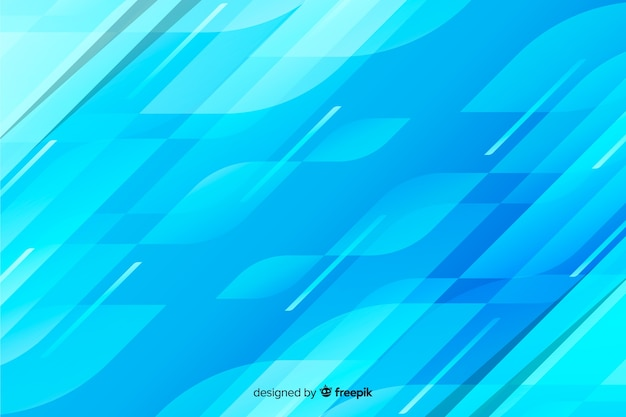 Fundo decorativo abstrato azul formas