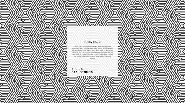 Fundo decorativo abstrato de linhas circulares hexagonais