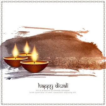 Fundo decorativo abstrato feliz diwali