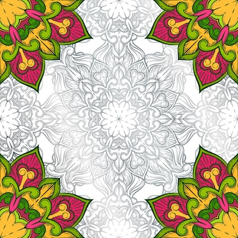Fundo decorativo abstrato. ornamento com elementos em mosaico.