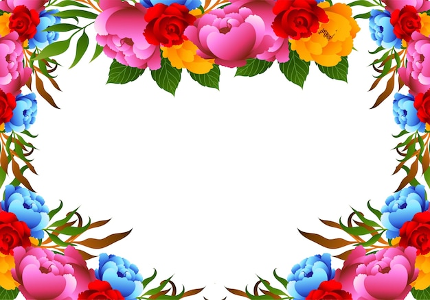 Fundo decorativo bonito com flores coloridas para casamento