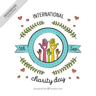 Fundo decorativo bonito dia de caridade internacional