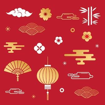Fundo decorativo chinês para cartão de ano novo