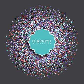 Fundo decorativo com confetes coloridos