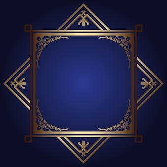 Fundo decorativo com moldura de ouro