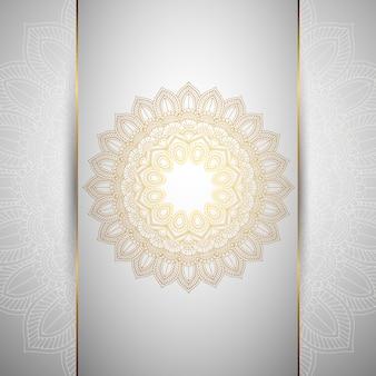 Fundo decorativo com um design de mandala ornamental